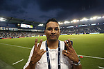 KANSAS CITY, KS - SEPTEMBER 20: Former SKC player Diego Gutierrez. Sporting Kansas City hosted the New York Red Bulls on September 20, 2017 at Children's Mercy Park in Kansas City, KS in the 2017 Lamar Hunt U.S. Open Cup Final. Sporting Kansas City won the match 2-1.