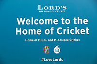 Welcome to the home of Cricket, Lords Cricket Ground during Middlesex CCC vs Lancashire CCC, Specsavers County Championship Division 2 Cricket at Lord's Cricket Ground on 12th April 2019