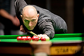 30th January 2019, Berlin, Germany;  Joe Perry, snooker player from England plays against his compatriot Sam Baird at the German Masters 2019.