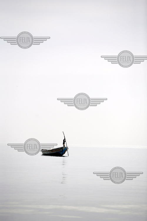 Fisherman off the Gambian coast.