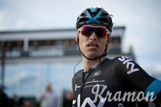 Christian Knees' (DEU/SKY) post-race face<br /> <br /> 113th Paris-Roubaix 2015