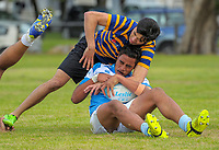 Silverstream v St Bernards QF. 2017 Wellington Secondary Schools Condor Rugby Sevens tournament at Naenae College in Naenae, Wellington, New Zealand on Monday, 23 October 2017. Photo: Dave Lintott / lintottphoto.co.nz