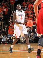 Virginia guard Marial Shayok (4) during the game Jan. 7, 2015, in Charlottesville, Va. Virginia defeated NC State  61-51.