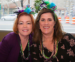 Doni Sue Vaughn Gassaway and Jeannine Lahr Hall during the Mardi Gras ball in the Reno Ballroom on Saturday, March 24, 2018.