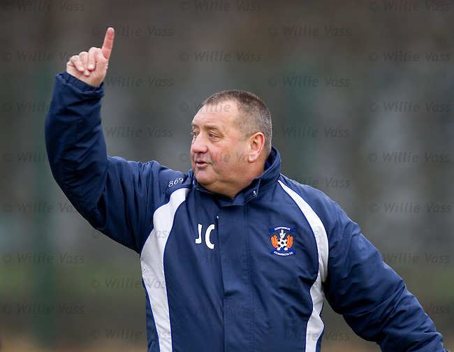 Jimmy Calderwood at Kilmarnock training