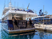 Jacht Forty Two, Hafen Darsena, Portoferraio, Elba, Region Toskana, Provinz Livorno, Italien, Europa<br /> Jacht Forty Two, Port Darsema, Portoferraio, Elba, Region Tuscany, Province Livorno, Italy, Europe