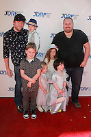 "LOS ANGELES - MAR 8:  Bill Horn, Scout Masterson, thier son, Spelling-McDermott kids at the Disney's ""Cinderella"" Advance Screening at the Disney Studios on March 8, 2015 in Burbank, CA"