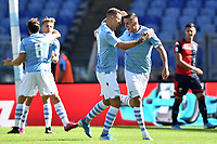 Sergej Milinkovic-Savic of SS Lazio celebrates with team mates after scoring the goal of 1-0 for his side <br /> Roma 29-9-2019 Stadio Olimpico <br /> Football Serie A 2019/2020 <br /> SS Lazio - Genoa CFC <br /> Foto Andrea Staccioli / Insidefoto