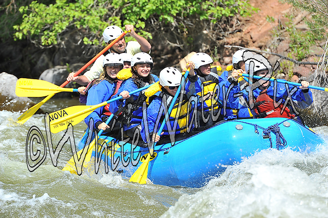 Nova Guides crashing Interstate, Dead Cow and Rodeo Rapids while running the Lower Eagle River, June 18, 2013, Afternoon Trip, PM, Eagle, Colorado - WhiteWater-Pix | River Adventure Photography - by MADOGRAPHER Doug Mayhew