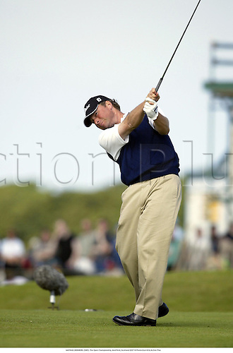 MATHIAS GRONBERG (SWE). The Open Championship, Muirfield, Scotland 020718 Photo:Glyn Kirk/Action Plus...Golf.2002.