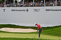 Jon Rahm (ESP) watches his putt on 17 during Rd4 of the 2019 BMW Championship, Medinah Golf Club, Chicago, Illinois, USA. 8/18/2019.<br /> Picture Ken Murray / Golffile.ie<br /> <br /> All photo usage must carry mandatory copyright credit (© Golffile | Ken Murray)