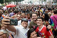 DE JANEIRO, RJ, 29.09.2018 - PROTESTO-RJ - Candidato ao Governo do Rio de Janeiro Tarcísio Motta durante a Manifestação Mulheres contra o Bolsonaro (#Ele Não) na Cinelândia, centro do Rio de Janeiro neste sábado, 29. (Foto: Clever Felix/Brazil Photo Press)
