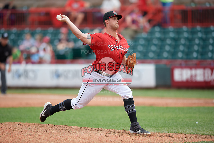 Erie SeaWolves pitcher Zac Houston (41) during an Eastern League game against the Altoona Curve on June 5, 2019 at UPMC Park in Erie, Pennsylvania.  Altoona defeated Erie 6-2.  (Mike Janes/Four Seam Images)