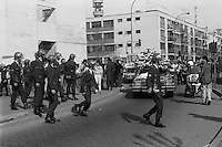 Funeral del periodista Jose Carrasco Tapia, secuestrado y asesinado por agentes de seguridad en replesalia y venganza por el atentado contra Augusto Pinochet donde murieron 6 de sus escoltas.<br /> Santiago Chile 10 Septiembre 1986<br /> Forty years ago, on September 11, 1973, a military coup led by General Augusto Pinochet toppled the democratic socialist government of Chile. President Salvador Allende was killed during the  attack to seize  La Moneda presidential palace.  In the aftermath of the coup, a quarter of a million people were detained for their political beliefs, 3000 were killed or disappeared and many thousands were tortured.<br /> Some years later in 1981, while Pinochet ruled Chile with iron fist, a young photographer called Juan Carlos Caceres started to freelance in the streets of Santiago and the poblaciones or poor outskirts, showing the growing resistance against the dictatorship. For the next 10 years Caceres photographed every single protest and social movement fighting for the restoration of democracy. He knew that his camera was his only weapon, he knew that his fate was to register the daily violence and leave his images for the History.<br /> In this days Caceres is working to rescue and organize his collection of images in the project Imagenes de la Resistencia   . With support of some Chilean official institutions, thousands of negatives are digitalized and organized to set up the more complete visual heritage of this  violent period of Chile´s history.<br /> In a time when technology was not very friendly and communications were kind of basic, Juan Carlos Caceres and other photojournalist were always at the right place in the right moment defying the threats of the police. Their work is now  a visual heritage that documents and remind us the fight of Chilean people for democracy.