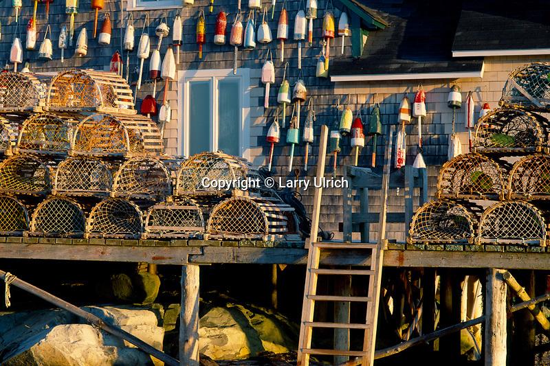Lobsterman's dock<br /> Bernard,  Bass Harbor<br /> Mount Desert Island<br /> Maine
