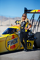 Oct 27, 2017; Las Vegas, NV, USA; NHRA top fuel driver Leah Pritchett poses for a portrait during qualifying for the Toyota National at The Strip at Las Vegas Motor Speedway. Mandatory Credit: Mark J. Rebilas-USA TODAY Sports