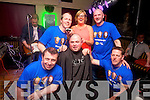 ken lennon, Robert Enright, Mike McDonnell, Nuala Dowling and Dermot Lynch from Strand road took part in a Shave or Dye fundraiser in the Greyhound Bar on Saturday