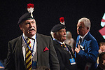 © Joel Goodman - 07973 332324 . No syndication permitted . 29/09/2013 . Manchester , UK . Colonel Ian Brazier , Chairman of the Fusiliers ' Association chairman , heckles Philip Hammond from the audience . Day 1 of the Conservative Party Conference at Manchester Central . Photo credit : Joel Goodman