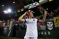 Portland, Oregon - Wednesday September 7, 2016: Portland Thorns FC midfielder Allie Long (10) waves to fans after a regular season National Women's Soccer League (NWSL) match at Providence Park.