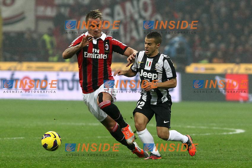 "Philippe Mexes Milan Sebastian Giovinco Juventus.Milano 25/11/2012 Stadio ""San Siro"".Football Calcio Serie A 2012/13.Milan v Juventus.Foto Insidefoto Paolo Nucci."