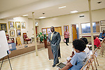 Reverend Arthur Price, Jr. leads a Bible study in the basement of 16th Street Baptist Church on August 14, 2013 in downtown Birmingham, Alabama. In 1963, four girls were killed when a bomb under the church's side steps went off.