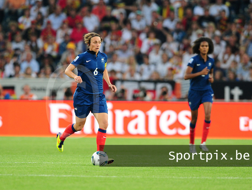 Fifa Women's World Cup Germany 2011 : France - Germany ( Frankrijk - Duitsland ) at Munchengladbach World Cup stadium : Sandrine SOUBEYRAND.foto DAVID CATRY / Vrouwenteam.be