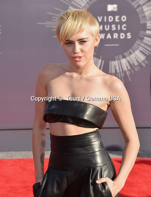 Miley Cyrus 107 at the  MTV Video Music Awards at the Great Western Forum in Los Angeles.