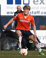 Cameron McGeehan of Luton Town during the Sky Bet League 2 match between Luton Town and Crawley Town at Kenilworth Road, Luton, England on 12 March 2016. Photo by David Horn/PRiME Media Images.