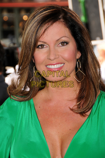 "LISA GUERRERO.""A Plumm Summer"" Los Angeles Premiere at Mann's Bruin Theatre,  Westwood, California, USA..April 20th, 2008.headshot portrait green.CAP/ADM/BP.©Byron Purvis/AdMedia/Capital Pictures."