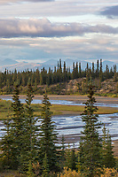 Ahnewetut Creek flows through the Great Sand Dunes in the Kobuk Valley National Park, Arctic, Alaska.