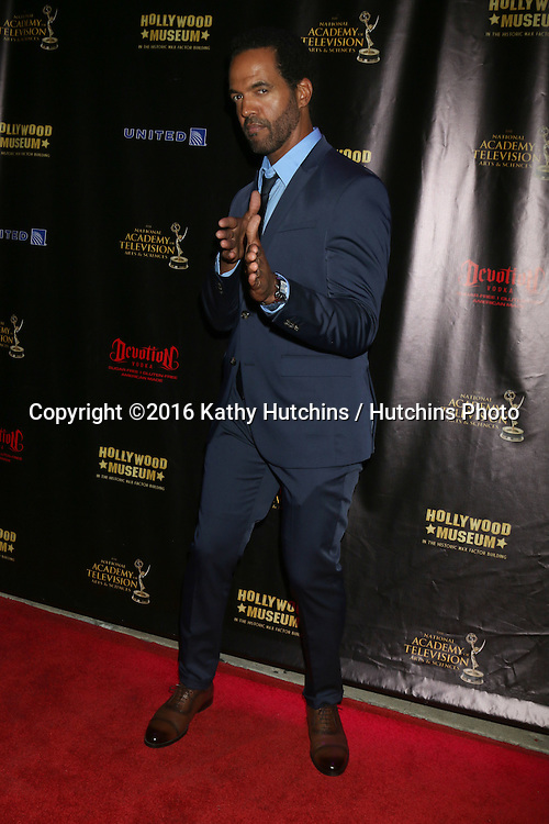 LOS ANGELES - APR 27:  Kristoff St John at the 2016 Daytime EMMY Awards Nominees Reception at the Hollywood Museum on April 27, 2016 in Los Angeles, CA