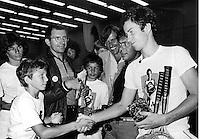 15-07-1982, England,London, Dunlop McEnroe day, Richard Krajicek meets John McEnroe