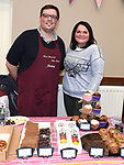 Jeremy and Alona of Merci Beaucoup Cake Creations at the Cottage Market in St. Peter's Parish hall. Photo:Colin Bell/pressphotos.ie