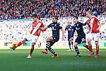 Jelle Vossen of Middlesbrough fires a shot on goal - Middlesbrough vs. Leeds United - Skybet Championship - Riverside Stadium - Middlesbrough - 21/02/2015 Pic Philip Oldham/Sportimage