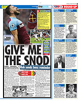 Daily Star - 28-Oct-2019 - 'GIVE ME THE SNOD' - Photos by Rob Newell (Camerasport via Getty Images)
