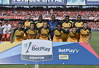 CALI - COLOMBIA, 15-02-2020: Jugadores del Medellin posan para una foto previo al partido por la fecha 5 de la Liga BetPlay DIMAYOR I 2020 entre América de Cali y Deportivo Independiente Medellín jugado en el estadio Pascual Guerrero de la ciudad de Cali. / Players of Medellin pose to a photo prior match for the for the date 5 as part of BetPlay DIMAYOR League I 2020 between America de Cali and Deportivo Independiente Medellin played at Pascual Guerrero stadium in Cali. Photo: VizzorImage / Gabriel Aponte / Staff