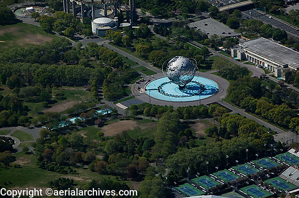 Aerial Photograph Unisphere Flushing Meadows Corona Park Queens New York Aerial Archives San