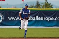 27 july 2010: Arold Castillo of France runs to the mound during Germany 10-9 victory over France, in day 5 of the 2010 European Championship Seniors, in Stuttgart, Germany.