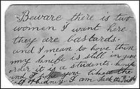 Jack the Ripper postcard revealed.