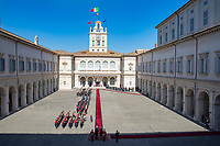 Xi Jinping and Sergio Mattarella<br /> Rome March 22nd 2019. The President of the Chinese Democratic Republic visits the President of the Italian Republic at Quirinale.<br /> photo di Paolo Giandotti/Presidenza della Repubblica/Insidefoto