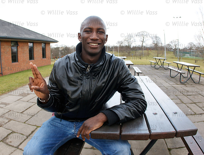 Kilmarnock's Mohamadou Sissoko at today's press conference