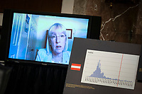 United States Senator Patty Murray (Democrat of Washington), ranking member, US Senate Health, Education, Labor and Pensions Committee, speaks via teleconference during a hearing in Washington, D.C., U.S., on Tuesday, June 30, 2020. Top federal health officials are expected to discuss efforts to get back to work and school during the coronavirus pandemic.<br /> Credit: Al Drago / Pool via CNP /MediaPunch