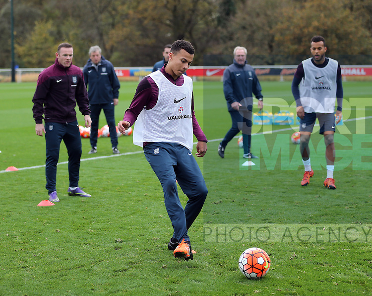 England's Dele Alli during training<br /> <br /> England Training - Tottenham Hotspur Training Ground - England - 16th November 2015 - Picture David Klein/Sportimage
