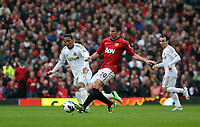 Pictured: (L-R) Jonathan de Guzman, Robin van Persie.<br /> Sunday 12 May 2013<br /> Re: Barclay's Premier League, Manchester City FC v Swansea City FC at the Old Trafford Stadium, Manchester.