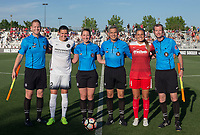 Boyds, MD. - Saturday, June 24 2017:  Cory Richardson, Christine Sinclair, Danielle Chesky, Jorge Ramirez, Shelina Zadorsky, Jeffrey Skinker during a regular season National Women's Soccer League (NWSL) match between the Washington Spirit and the Portland Thorns FC at Maureen Hendricks Field, Maryland SoccerPlex.<br />  The Washington Spirit defeated the Portland Thorns FC 1-0.