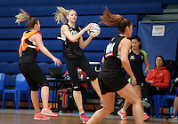 14.10.2016 Silver Ferns Katrina Grant in action at the Silver Ferns training at the Auckland Netball Centre in Auckland. Mandatory Photo Credit ©Michael Bradley.