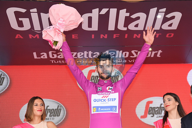 Fernando Gaviria (COL) Quick-Step Floors retains the points  Maglia Ciclima at the end of Stage 7 of the 100th edition of the Giro d'Italia 2017, running 224km from Castrovillari to Alberobello, Italy. 12th May 2017.<br /> Picture: LaPresse/Gian Mattia D'Alberto | Cyclefile<br /> <br /> <br /> All photos usage must carry mandatory copyright credit (&copy; Cyclefile | LaPresse/Gian Mattia D'Alberto)
