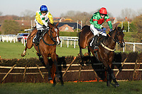 Winner of The I E P Financial Novices' Hurdle Adicci Blue cap ridden by Jonjo O'Neil Jnr and trained by Jonjo O'Neill  during Horse Racing at Plumpton Racecourse on 2nd December 2019