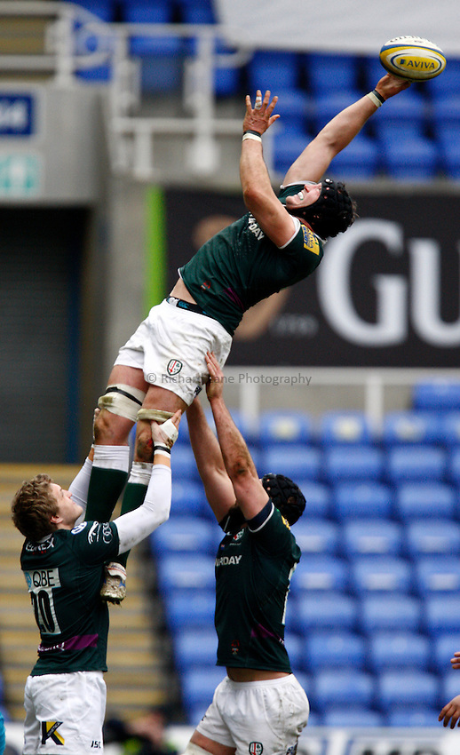 Photo: Richard Lane/Richard Lane Photography. London Irish v London Wasps. Aviva Premiership. 24/02/2013. Irish's George Skivington.