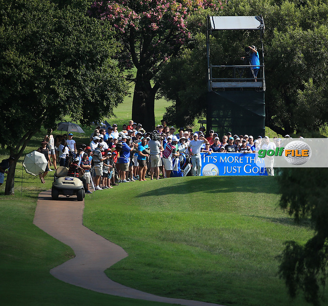 Zander Lombard (RSA) in action from the 17th tee during the Final Round of the 2016 Tshwane Open, played at the Pretoria Country Club, Waterkloof, Pretoria, South Africa.  14/02/2016. Picture: Golffile | David Lloyd<br /> <br /> All photos usage must carry mandatory copyright credit (&copy; Golffile | David Lloyd)